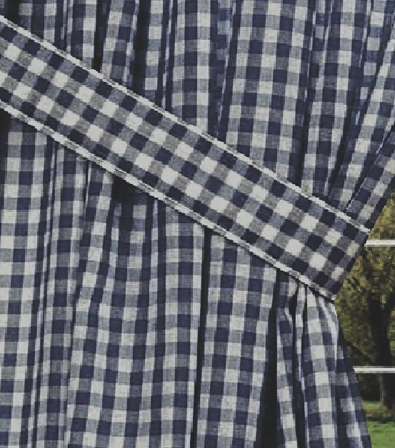 Black And White Geometric Curtains Black and White Gingham Euro