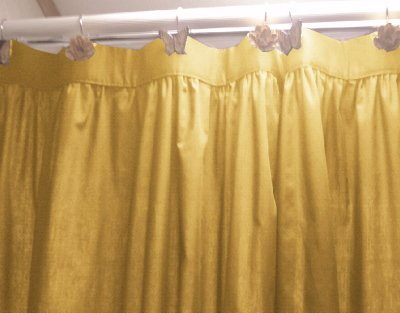 Solid Gold Colored Shower Curtain