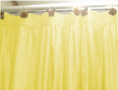 Light Pink Shower Curtain Yellow Fabric Shower Curtain