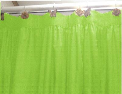 Laura Ashley Seaspray Curtains Fuschai Green Shower Curtain