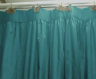 Teal And Orange Shower Curtain Coral Colored Shower Curtain