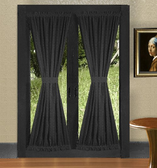 french doors with curtains french door curtain with tie
