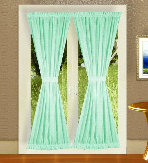 Solid Mint Green Colored Shower Curtain
