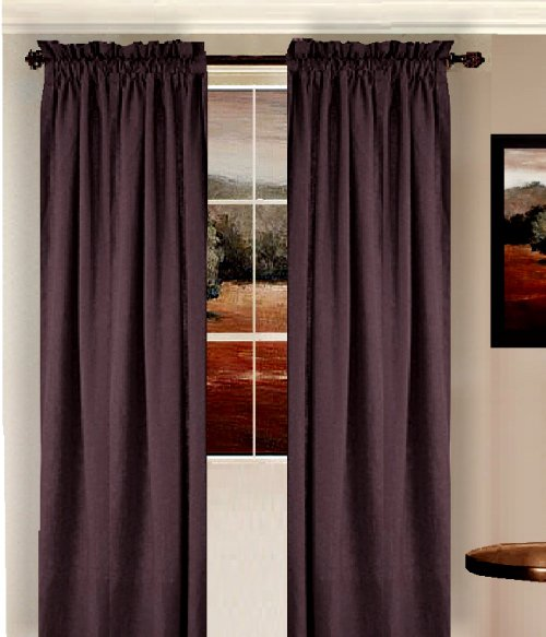 Solid Eggplant Purple Colored Shower Curtain