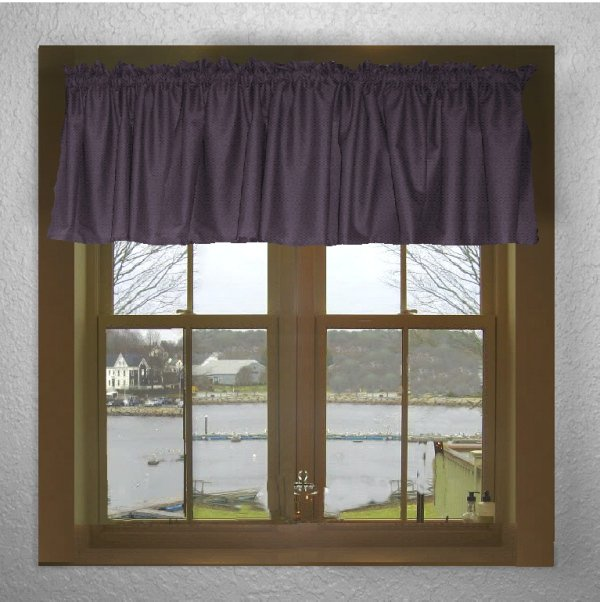 Solid Eggplant Purple Color Valance In Many Lengths Custom Size
