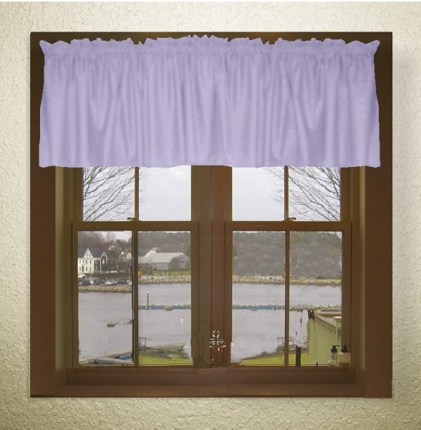 Solid Light Purple Lilac Color Valance In Many Lengths