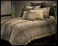Cheetah Fur by Veratex - 4pc Twin Comforter Set (Taupe)