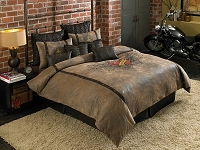 Winged Heart Bed - 4pc California King Comforter Set (Camel)