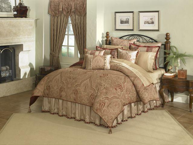 Home > Comforters > Castille - 4pc King Comforter Set (Garnet)