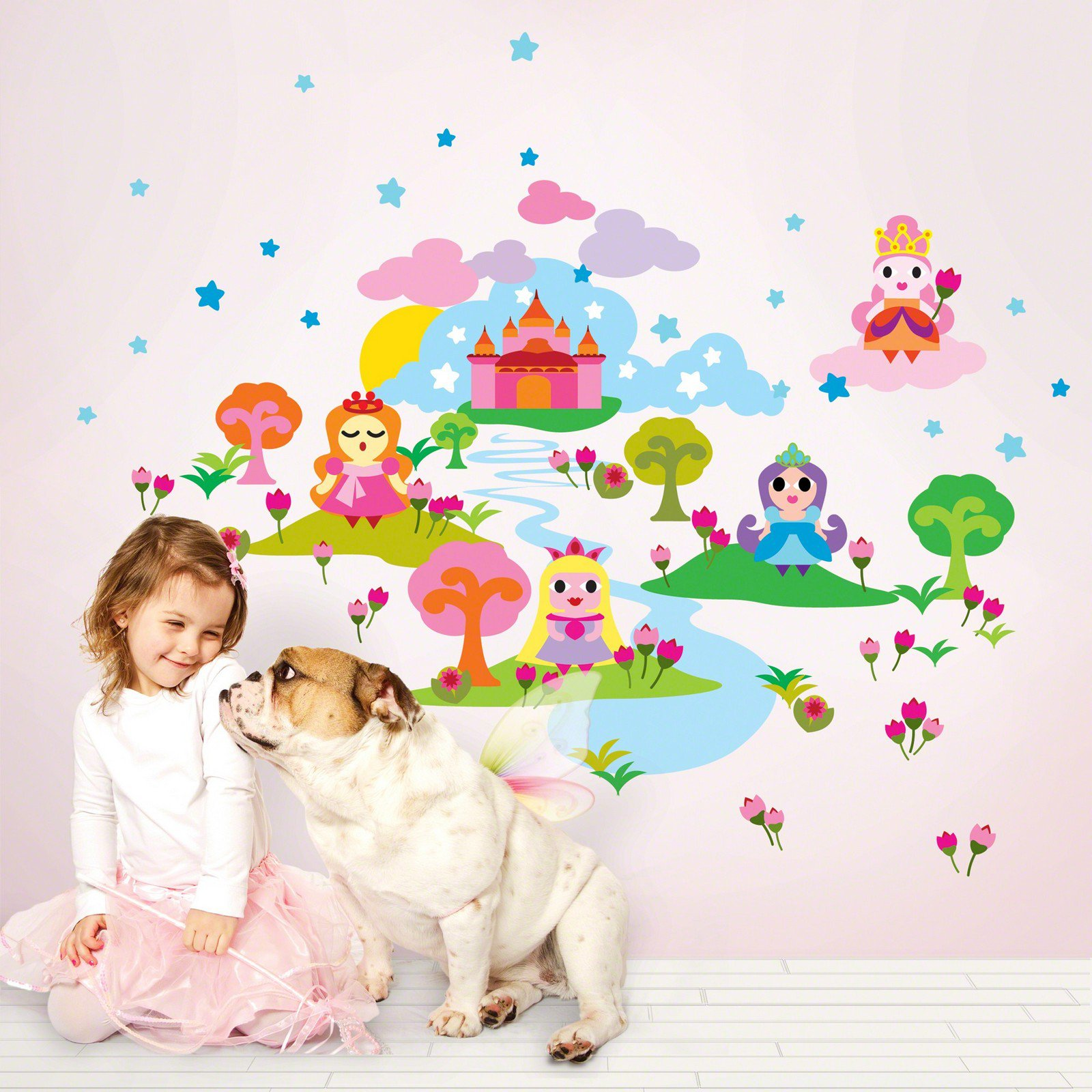 french bull princess wall decals. Black Bedroom Furniture Sets. Home Design Ideas