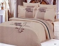 Golf - 6 Piece Full / Queen Bedding Featuring Player Swinging A Club Embroidered Duvet Cover Set