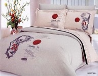 Basketball - 6 Piece Full / Queen Bedding Slam Dunking Player Embroidered Duvet Cover Set