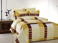 Secret - 6 Piece Full / Queen Bedding Elegant Masculine Collection Modern & Stylish Duvet Cover Set