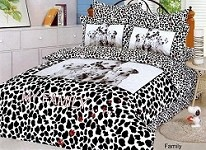Family T - 4 Piece Twin (Single) Bedding Dalmation (Puppies) Kids Duvet Cover Set