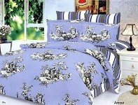 Amour - 6 Piece Full / Queen Bedding Scenery Of Romantic Couple Duvet Cover Set