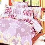 Misty Roses - 100% Cotton 4PC Duvet Cover Set (King Size)