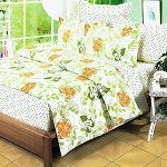 Summer Leaf - 100% Cotton 4PC Duvet Cover Set (King Size)