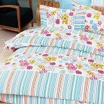 Blooming Flowers - 100% Cotton 4PC Duvet Cover Set (King Size)