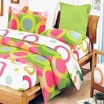Rhythm of Colors - 100% Cotton 7PC MEGA Comforter Cover/Duvet Cover Combo (King Size)
