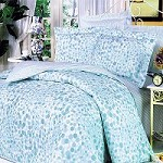 Blue Bubbles - 100% Cotton 4PC Duvet Cover Set (King Size)