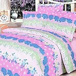 Pink Kaleidoscope - 100% Cotton 4PC Duvet Cover Set (King Size)