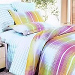 Golden Plaid - 100% Cotton 4PC Duvet Cover Set (King Size)