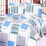 Blue Fantasy - 100% Cotton 4PC Duvet Cover Set (King Size)