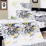 Sporting  Style - 100% Cotton 4PC Duvet Cover Set (King Size)