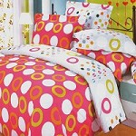 Coral Red - 100% Cotton 4PC Duvet Cover Set (King Size)