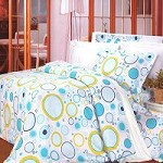 Baby Blue - 100% Cotton 4PC Duvet Cover Set (King Size)
