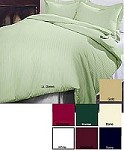 Damask Stripe -3pc King Size Damask Stripe Duvet Cover Set 230 Thread Count, 100% Cotton Damask Stripe, Inc. 2 Standard Size shams