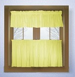 Solid Light Yellow Colored Kitchen Curtain only - Valance Sold Separately - (available in many custom lengths)