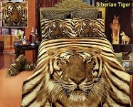 Siberian Tiger by Dolce Mela - 6 PCs Duvet Cover Set, Bed in a Bag Queen Size in Dolce Mela Gift Box DM412Q