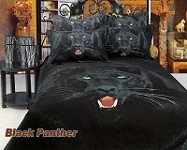 Black Panther by Dolce Mela, 6 PC's Queen Size Duvet Cover Set in a Beautiful Dolce Mela Gift Box DM413Q