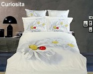 Curiosita by Dolce Mela - 4 PCs Duvet Cover Set, Bed in a Bag Twin Size in Dolce Mela Gift Box DM421T