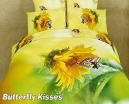 Butterfly Kisses by Dolce Mela, 4 PC's Twin Size Duvet Cover Set in a Beautiful Dolce Mela Gift Box DM428T