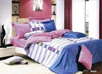 Jean - 4 PCs Twin Size Duvet Cover Set by Le Vele
