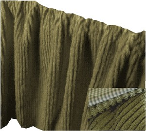 Sage Green Chenille Bedskirt - (in all sizes from twin to cal-king and many custom skirt drop lengths)