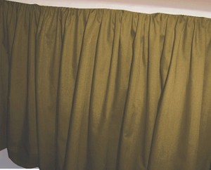Solid Olive Colored Bedskirt In All Sizes From Twin To
