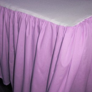 Solid Violet Purple Colored Bedskirt - (in all sizes from twin to cal-king also in crib size and daybeds with many custom skirt drop lengths)