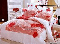 Valentine T- 4 Piece Twin (Single) Bedding Girls Pink & White Floral Duvet Cover Set