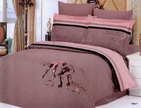Hockey, 6 Piece Full-Queen Bedding Featuring Two Players Embroidered Duvet Cover Set