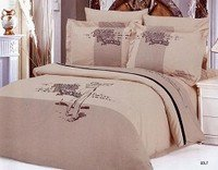 Golf, 6 Piece Full-Queen Bedding Featuring Player Swinging A Club Embroidered Duvet Cover Set