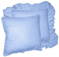 Solid Caribbean Blue Colored Accent Pillow with Removable Ruffled or Corded Edge (in 16x16 or 18x18)