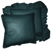 Solid Dark Teal Colored Accent Pillow with Removable Ruffled or Corded Edge (in 16x16 or 18x18)