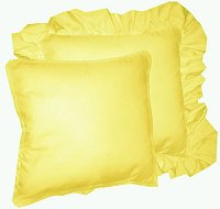 Solid Lemon Yellow Colored Accent Pillow with Removable Ruffled or Corded Edge (in 16x16 or 18x18)