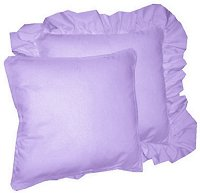 Solid Light Purple Colored Accent Pillow with Removable Ruffled or Corded Edge (in 16x16 or 18x18)