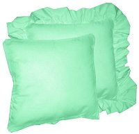 Solid Mint Green Colored Accent Pillow with Removable Ruffled or Corded Edge (in 16x16 or 18x18)