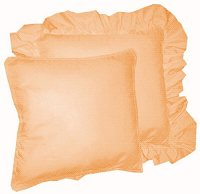 Solid Peach Colored Accent Pillow with Removable Ruffled or Corded Edge (in 16x16 or 18x18)