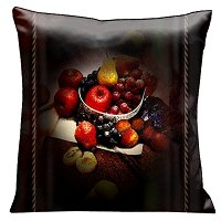 Lama Kasso Pillow #102AS - Fruit Still-life on Dark Tones with A Rope Border 18